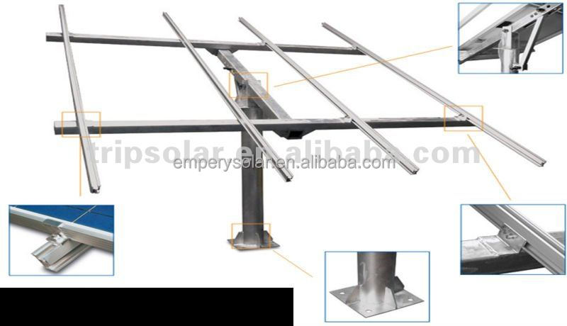 Solar Mounting System Solar Ground Pole Mounting Support