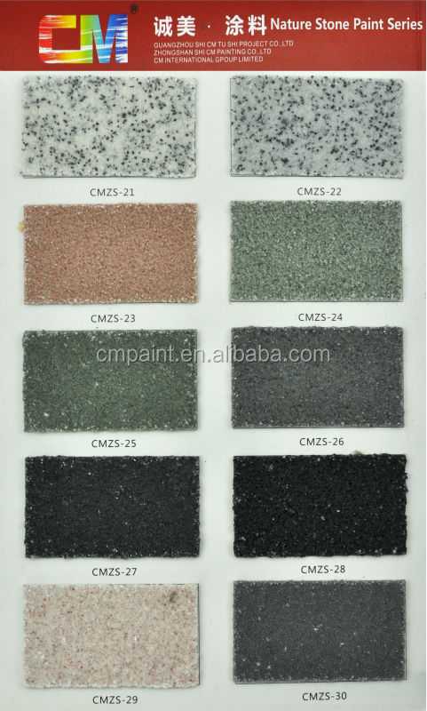 CMZS 07 Multi Color Acrylic Resin Waterproof Natural Stone Texture Paint  For Exterior Wall
