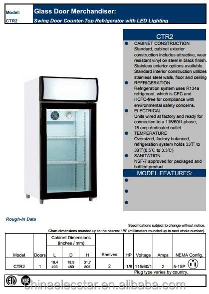 Glass Door Merchandiser Lower Height Narrow Depth