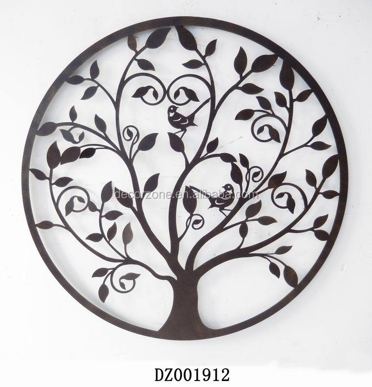 decorative wrought iron wall decor with family tree design