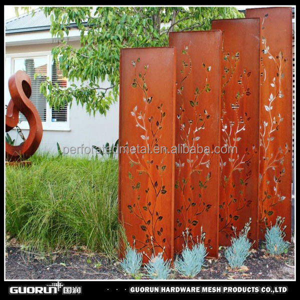 Laser Cut Corten Steel Metal Screen Buy Laser Cut Corten