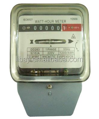 Single Phase Digital Voltage Electric Meter Mechanical Ampere Energy ...