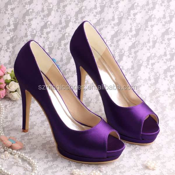 Wholesale Dark Purple High Heel Fashion Shoes Wedding - Alibaba.com