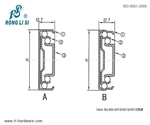 High Quality Full Extension Hettich Ball Bearing Drawer Slides Buy