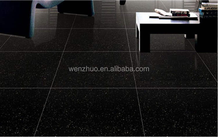 Shiny black floor tiles the hippest - Castorama credence autocollante ...