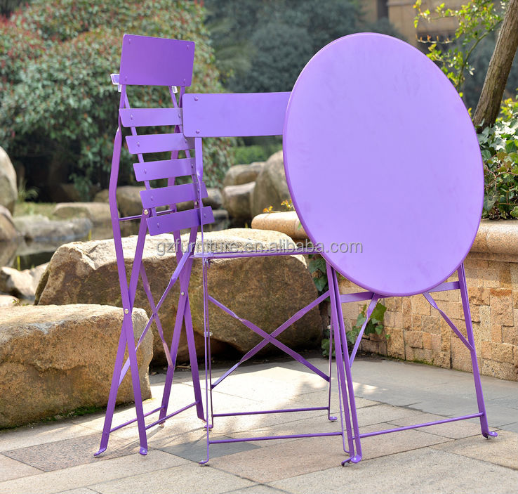 Outdoor Portable Folding Bistro Table And Chairs Set