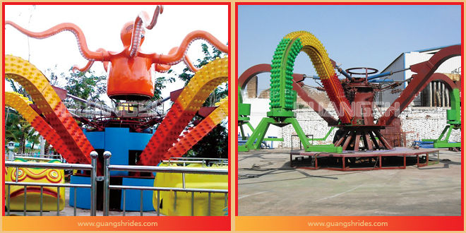 HOT! Hot Selling!! Big Octopus Kids Backyard Amusement Rides For Sale