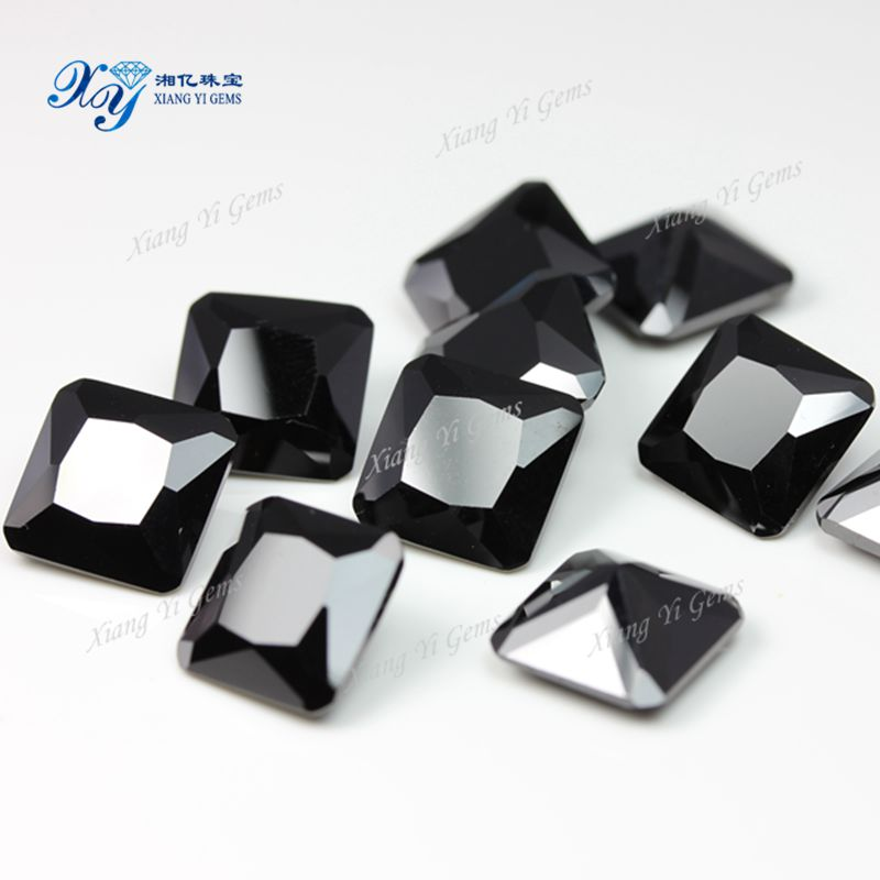 China Wuzhou Black Stone Ring For Men/ Inverted Square Hot Cz ...