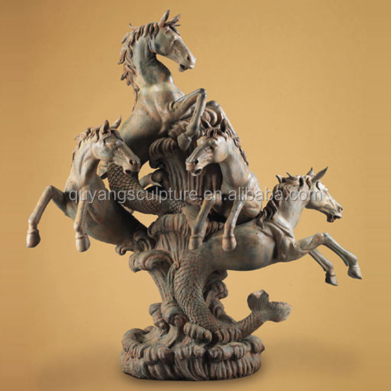 Large Garden Bronze Horse Fountain