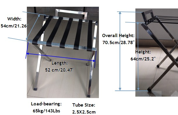 Guangzhou Stainless Steel Hotel Room Folding Luggage Rack For ...