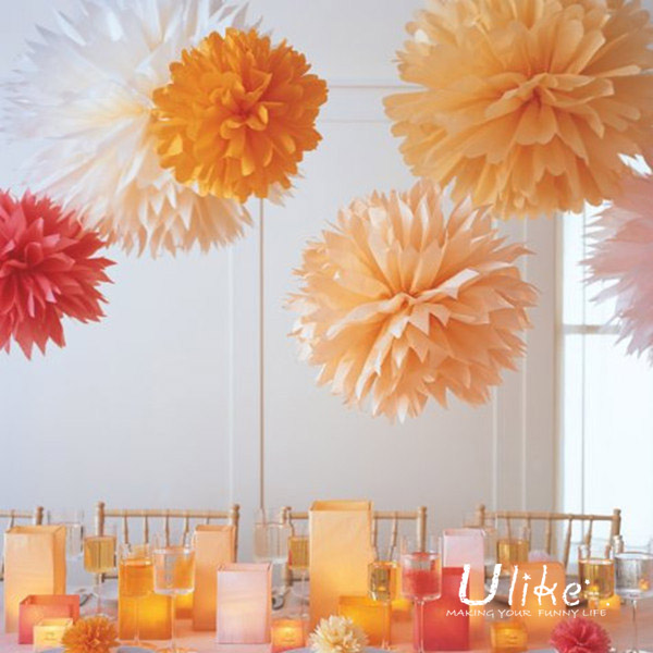 Popular Tissue Pom Poms Flower Garland For Party Decoration New ...