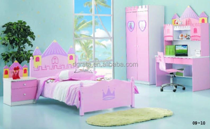 2014 Roze Prinses Kasteel Meisjes Slaapkamer Set Is Het Ontwerp Voor ...