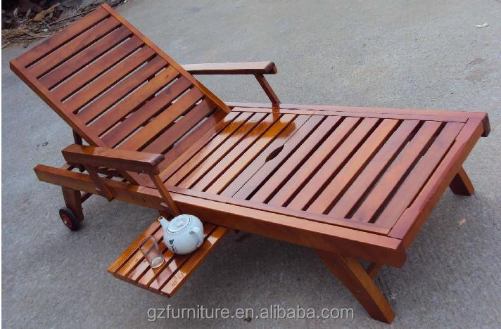 wooden steamer chair reclining sun lounger wood garden. Black Bedroom Furniture Sets. Home Design Ideas