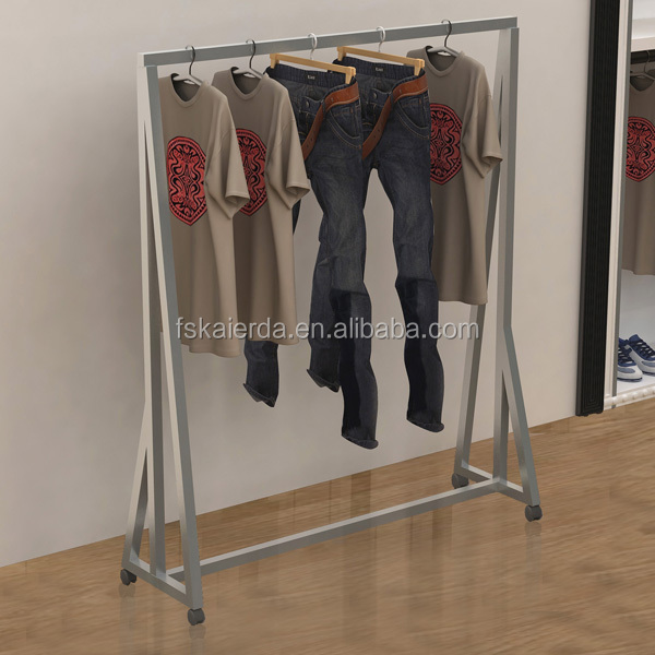 Powder Coated Clothes Hanger Stand/Stand Clothes Hanger Rack/Standing  Clothes Hanger