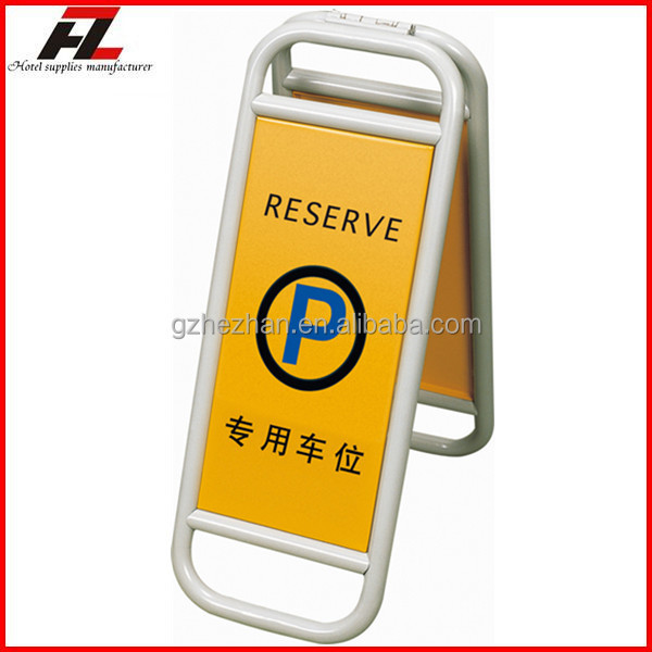 customized folding metal parking reserve sign stand a board