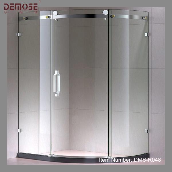 Curved Sliding Glass Frameless Shower Door Buy Frameless