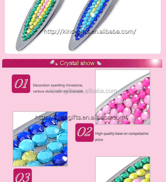 Eyebrow Tweezer with Rhinestone Decoration, OEM Order Are Accepted