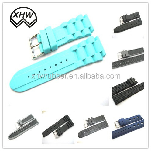 black silicone rubber watch straps/20mm silicone rubber watch strap/high quality silicone rubber watch belt