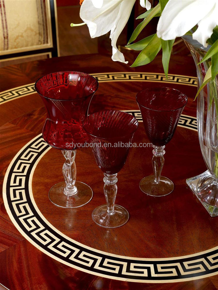 0010 high quality luxury wooden hand carved dining room table set