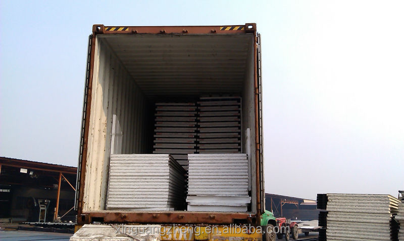 pre-fab corrugated sheet steel structure warehouse