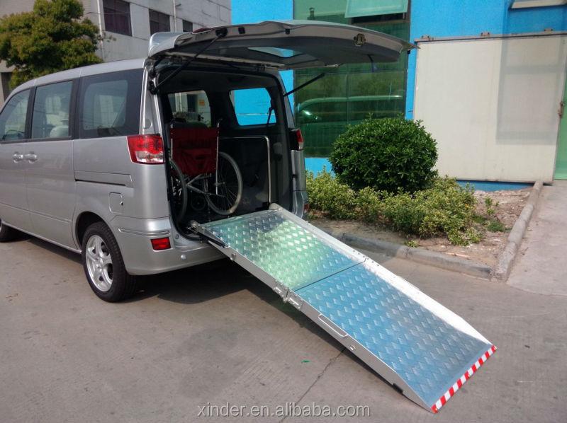 bmwr 201 aluminum manual folding car motorcycle wheelchair ramp for