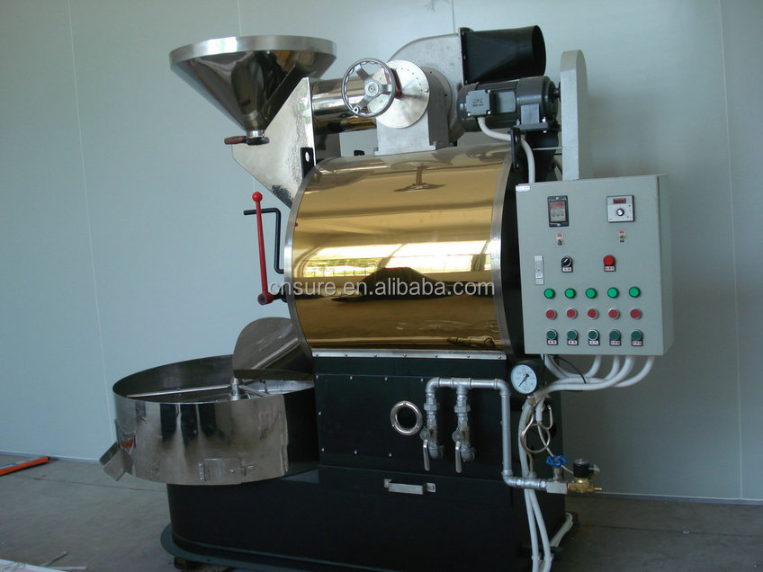 Stainless Steel Gas Commercial Drum 3kg Coffee Roaster For Sale ...