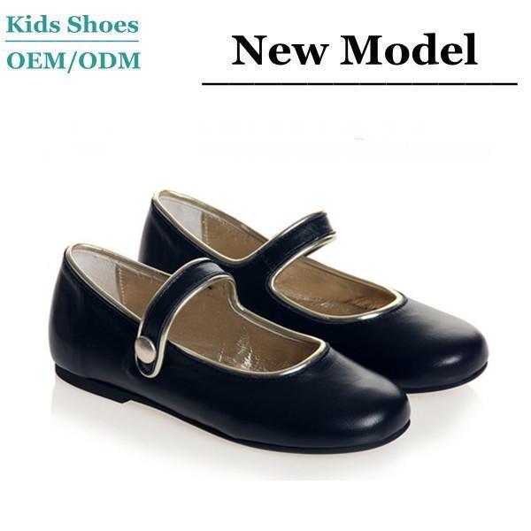 dd4772debc028 Classic design girls navy blue leather shoes children ballet shoes kids  orthopedic shoes