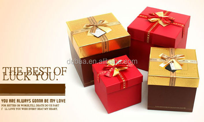 Square gift boxes with lid small wholesale