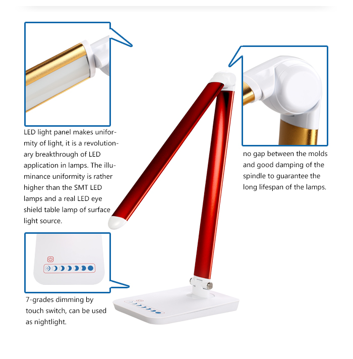 LED flexible USB lighting kids study table lamp