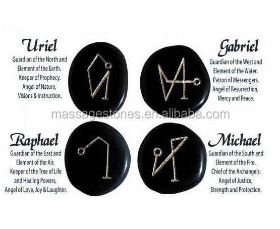gemstone engraving with archangel michael symbol buy