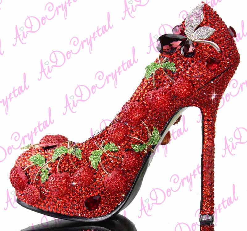Light Pink Peacock Decoration Bridal Wedding Shoes,12cm High Heel ...