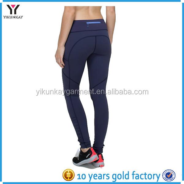 Womens Quality Cotton Spandex Zipper Pocket Yoga Pants, View ...