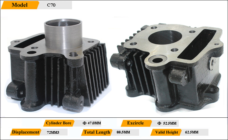Cd 70cc Motorcycle Engine Cylinder For Motorcycle Spare Parts ...