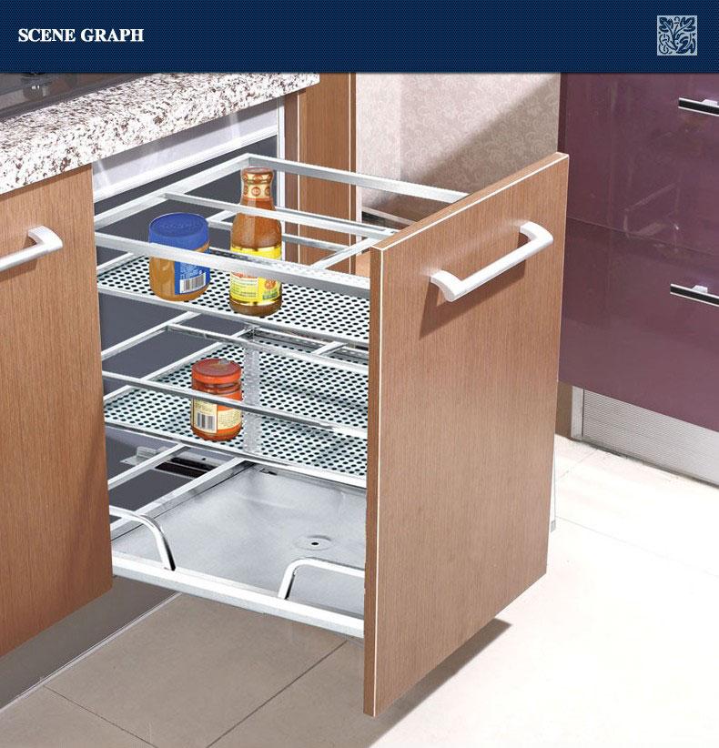 Kitchen Cabinets Basket Drawer: Modern Stainless Steel Kitchen Drawer Basket 201