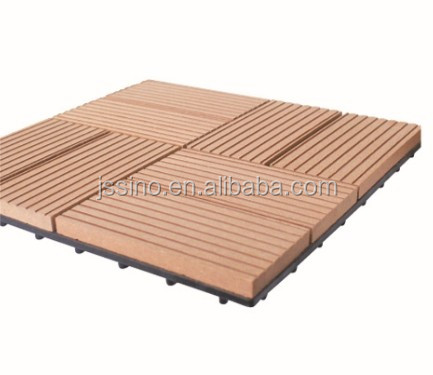 WPC Interlocking Plastic Outdoor Decking Tiles/composite Deck Tile, Plastic  Base, Solar Decking