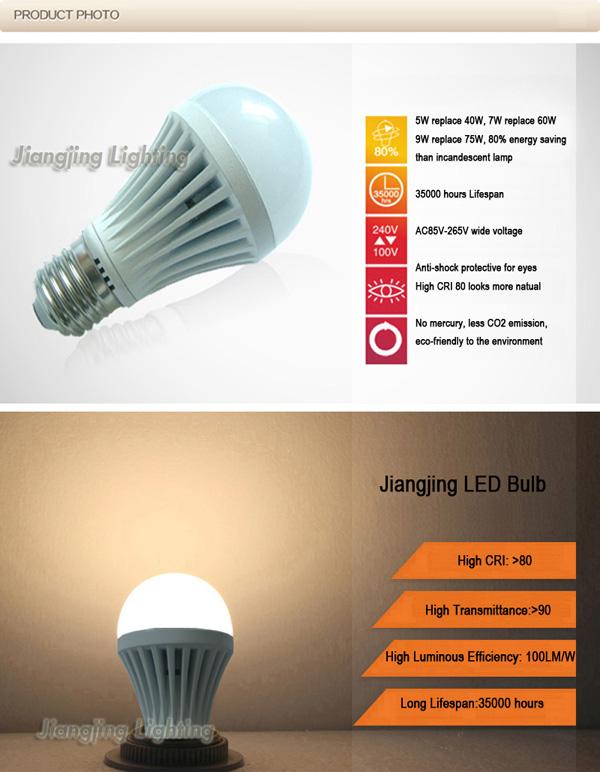 Cheap Different Types Light Bulb Fittings 600 Lumen Led