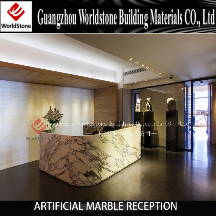 restaurant counters artificial marble hotel reception desk design - Hotel Reception Desk Design