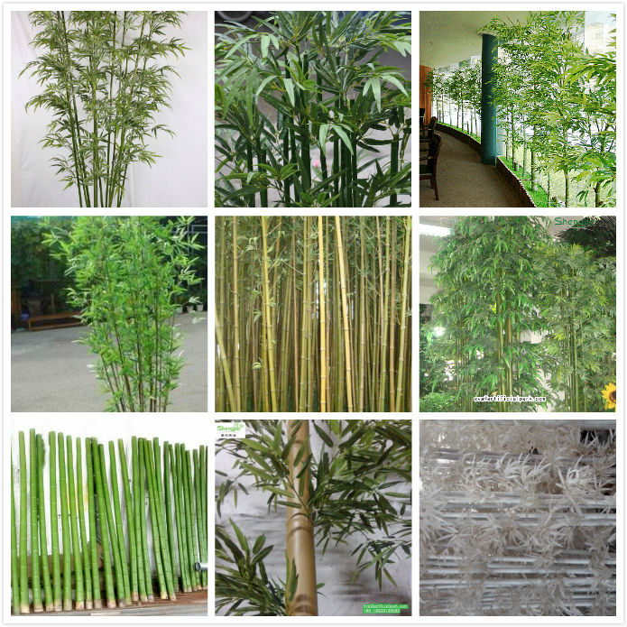 Cheap decoration artificial bamboo poles for indoor and