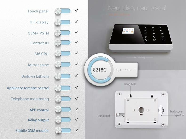 Android ios app control alarme maison for home security kr for Alarme surveillance maison