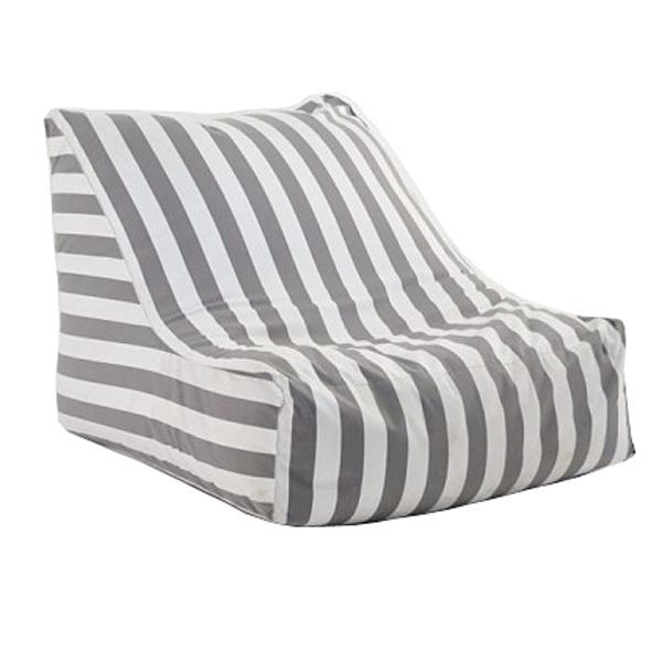 Light Grey Stripe Bean Bag Chair
