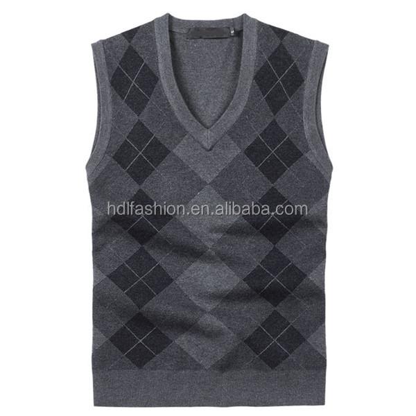 Custom Men's Knitted Sleeveless Argyle Sweater Vest - Buy Argyle ...