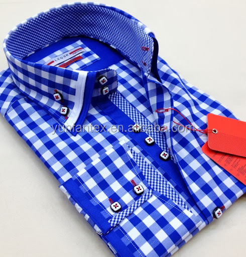2014 latest fashion design italian style double collar for New check designs