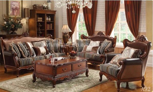 Solid Wood Turkish Sofa Furniture