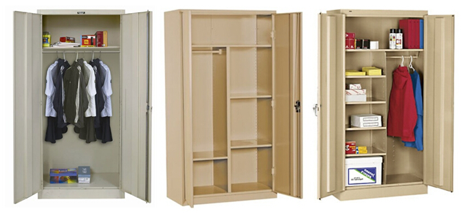 Cabinet Design For Clothes China Manufacturer 2 Door Steel Locking Armoire Clothing Wardrobe