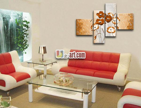Pintado A Mano Lienzo Grandes Cuadros De Flores Buy Grandes Fotos