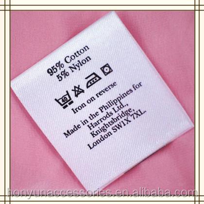 Printing Satin Fabric Care Label For Garments - Buy Satin Fabric ...