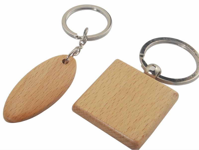 Blank Wood Keychain/engraving Logo Wood Key Chain