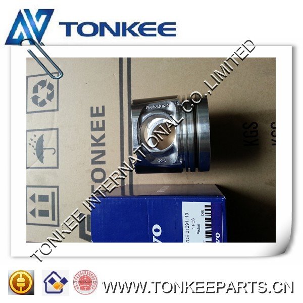 D6E piston D6E engine piston for excavator EC210B PRIME VOE21291110