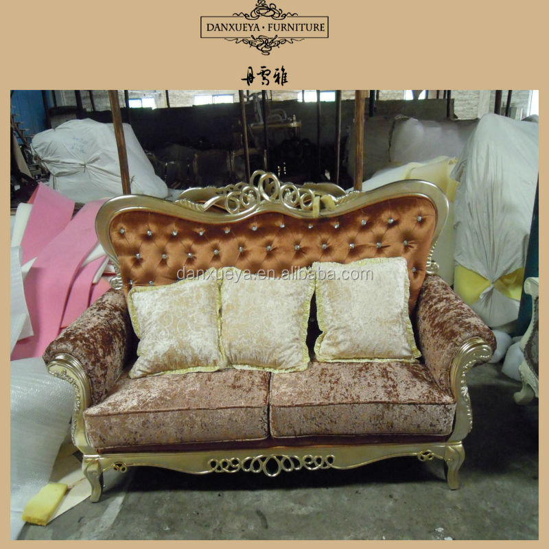 French style crystal button divan living room furniture for Divan in french