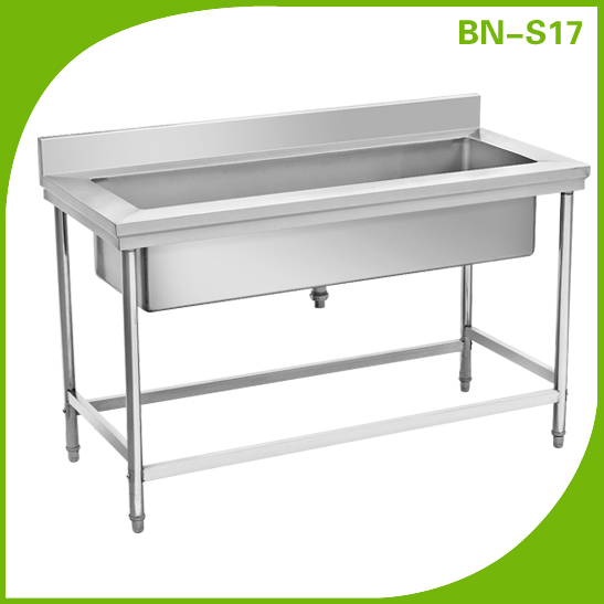 Stainless Steel Sink, Single Bowl: BN S17
